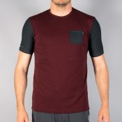 O'Neill S15 Mens Skins Pocket Surf Tee (DkRed/Blac