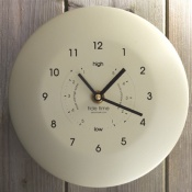 Ashortwalk Classic Time and Tide Clock (Cream)