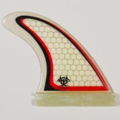 Rainbow Fins R5 Thruster (Futures Clear/Red/Black)